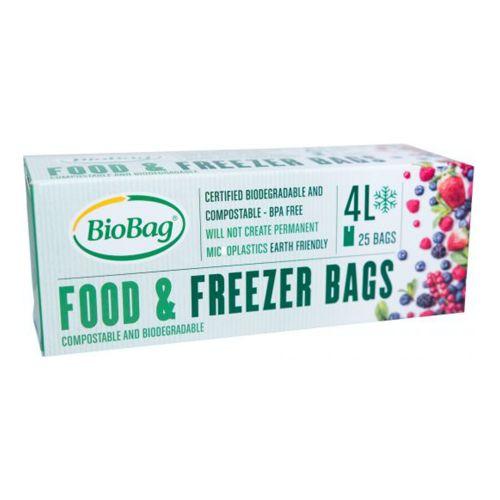Compostable Freezer Bag 4L (25 Pack)