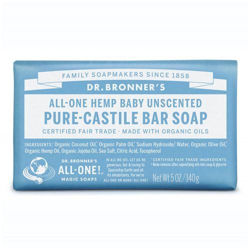 Baby Unscented Castile Bar Soap 140g
