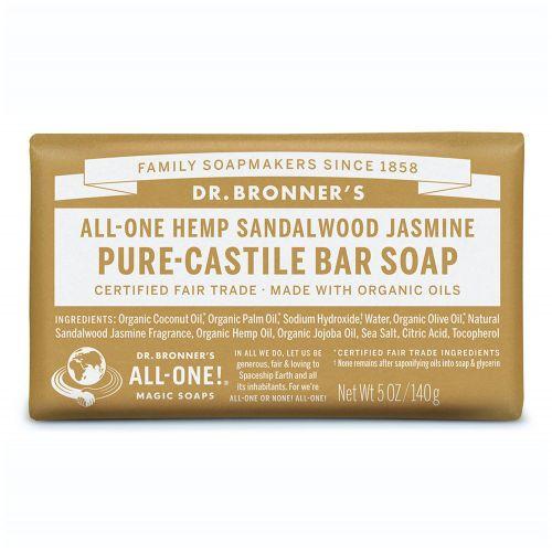 Sandalwood Jasmine Castile Bar Soap 140g