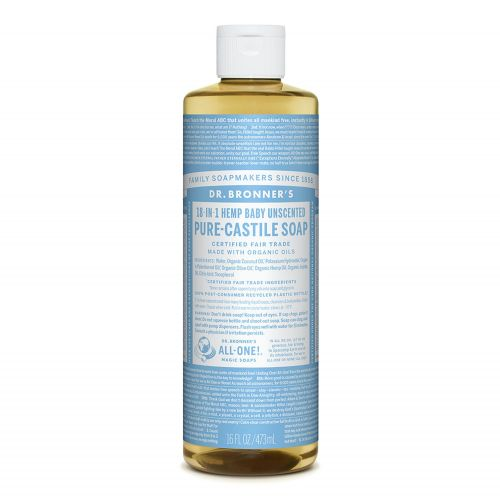 Baby Unscented Castile Liquid Soap 473ml