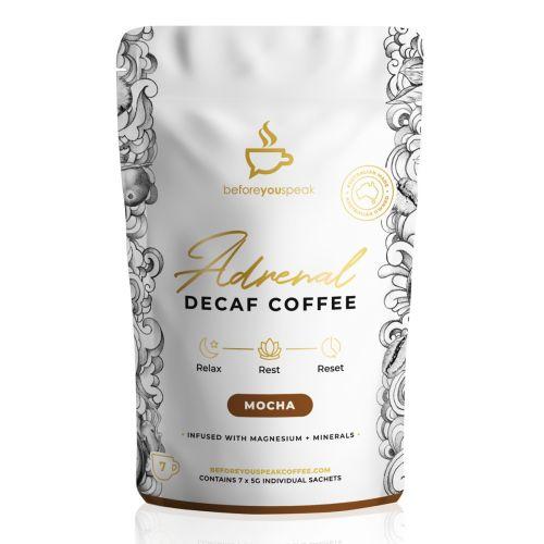 Adrenal Reset Decaf Coffee Mocha 7 Sachets