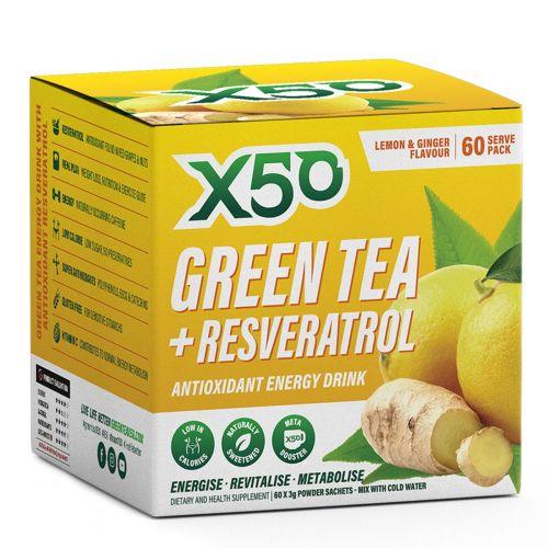 Green Tea Lemon Ginger 60 serves