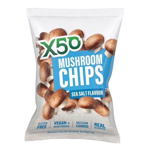 Mushroom Chips Sea Salt 40g