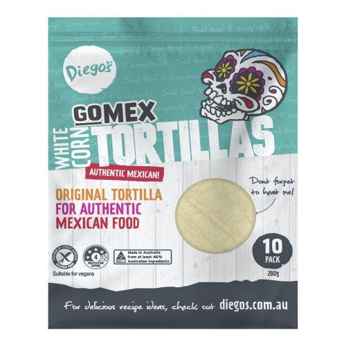 GoMex White Corn Tortillas 12 Pack - 276g