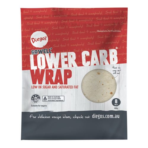 Gowell Lower Carb Wrap 8 Pack - 400g