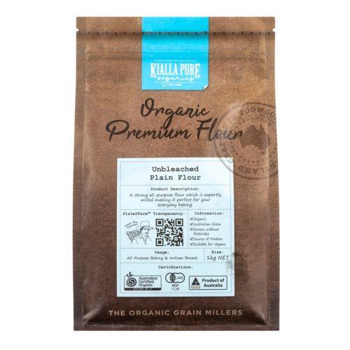 Organic Unbleached Plain Flour - 1kg