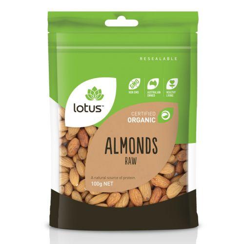 Organic Almonds Raw 100g