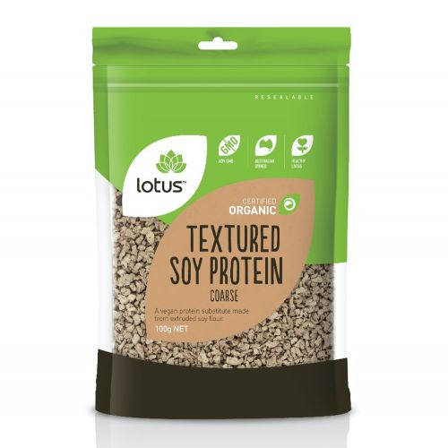 Organic Textured Soy Protein (Coarse) - 100g
