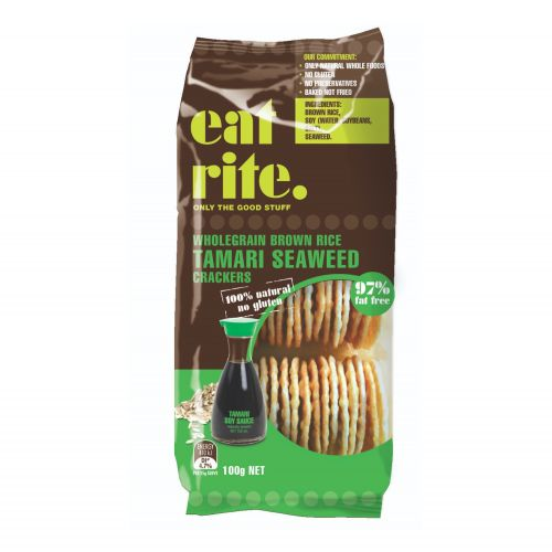 Brown Rice Crackers with Tamari Seaweed - 100g