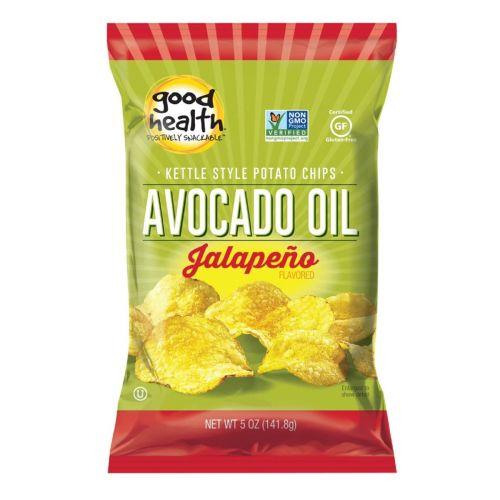 Avocado Oil Potato Chips Jalapeno 142g