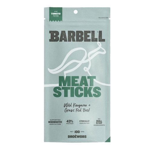 Wild Kangaroo & Grass Fed Beef Meat Sticks Tomato Thyme 100g