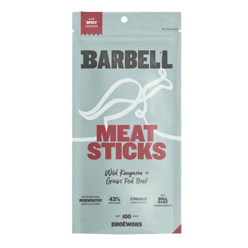Wild Kangaroo & Grass Fed Beef Meat Sticks Spicy Sichuan 100g