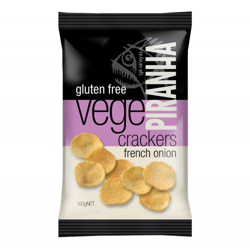 Vege Crackers French Onion - 100g