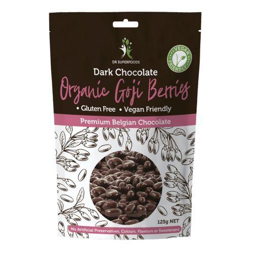 Dark Chocolate Coated Goji Berries - 125g