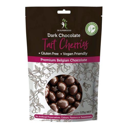 Dark Chocolate Coated Tart Cherries - 125g
