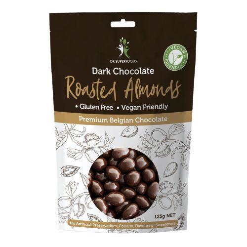 Dark Chocolate Coated Roasted Almonds - 125g