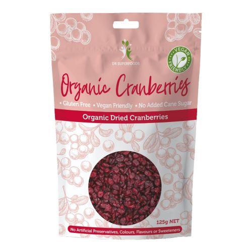 Organic Dried Cranberries - 125g