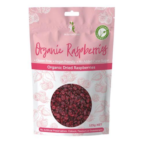 Organic Dried Raspberries - 125g