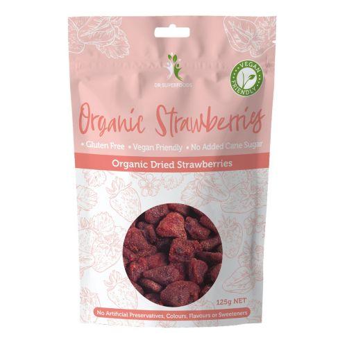 Organic Dried Strawberries - 125g
