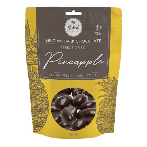 Dark Chocolate Freeze Dried Pineapple 100g