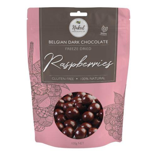 Dark Chocolate Freeze Dried Raspberry 100g