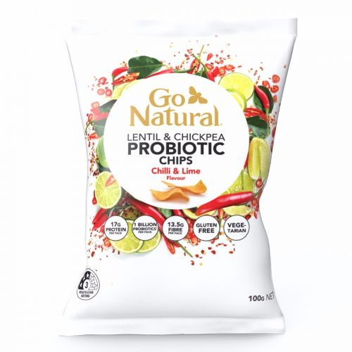 Probiotic Chips Chilli & Lime - 100g 5 Pack