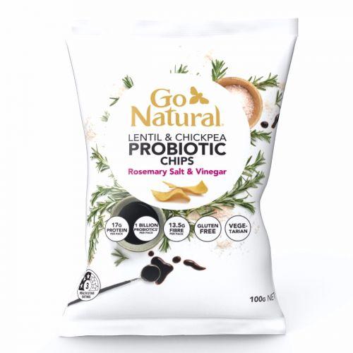 Probiotic Chips Rosemary Salt & Vinegar - 100g 5 Pack