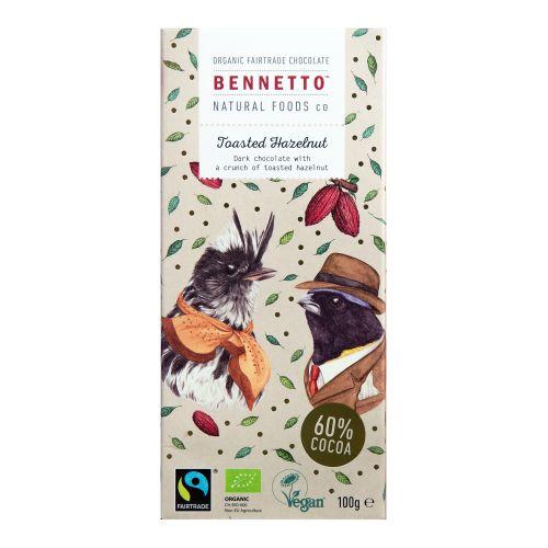 Organic Dark Chocolate Toasted Hazelnut - 100g