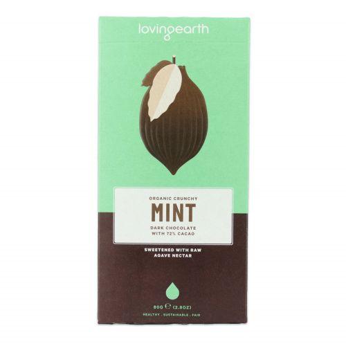 Crunchy Mint Dark Chocolate Bar - 80g