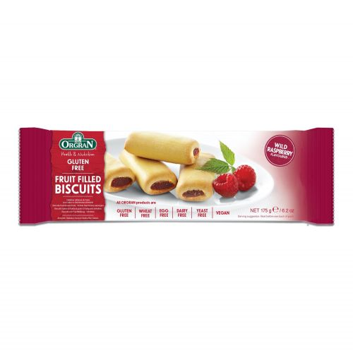 Wild Raspberry Fruit Filled Biscuits - 175g