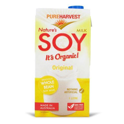 Organic Natures Soy Milk - 1L