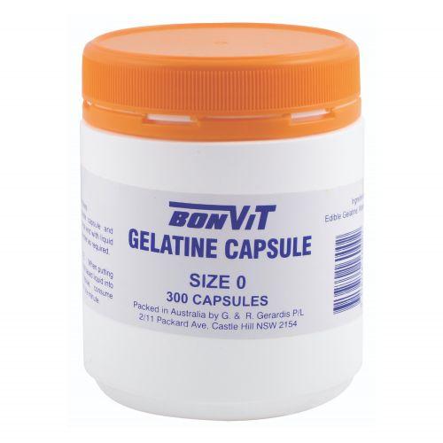 Gelatine Capsules O Size - 300 Caps