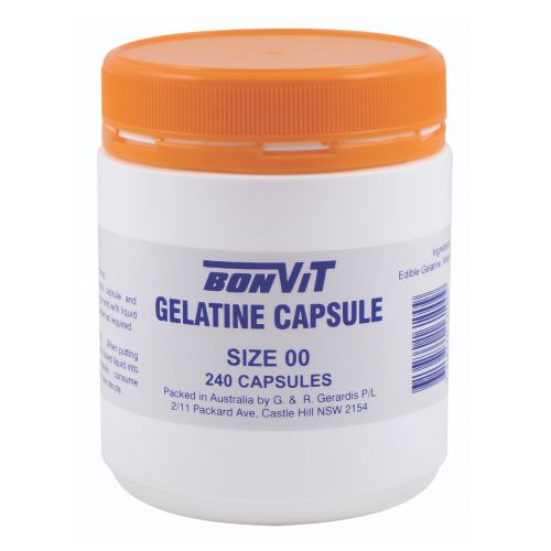 Gelatine Capsules OO Size - 240 Caps
