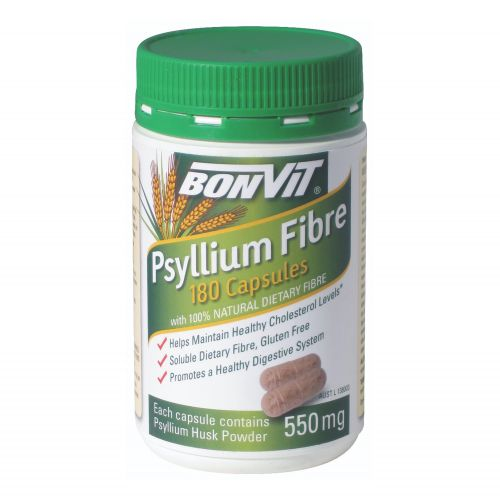 Psyllium Capsules 550mg - 180 Caps