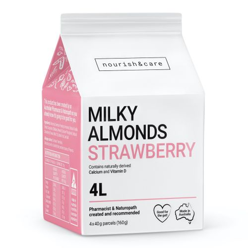Milky Almonds Strawberry - 160g (4 x 40g Sachets)