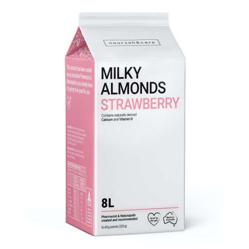 Milky Almonds Strawberry - 320g (8 x 40g Sachets)