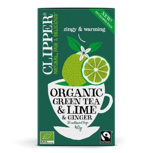Organic Green Tea Lime & Ginger - 20 Teabags