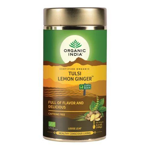 Tulsi Lemon Ginger Loose Leaf Tea 100g