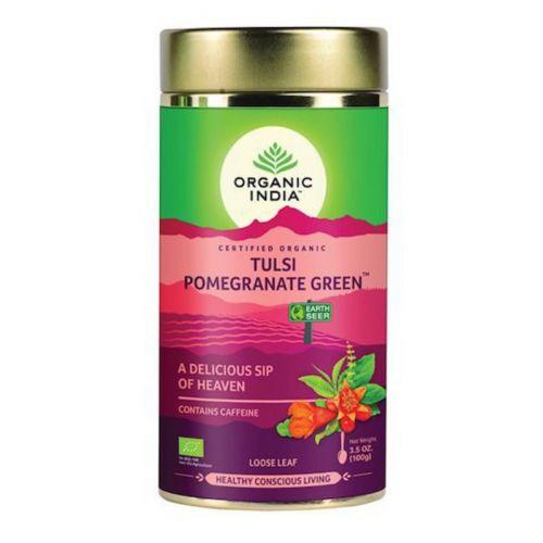 Tulsi Pomegranate Green Loose Leaf Tea 100g