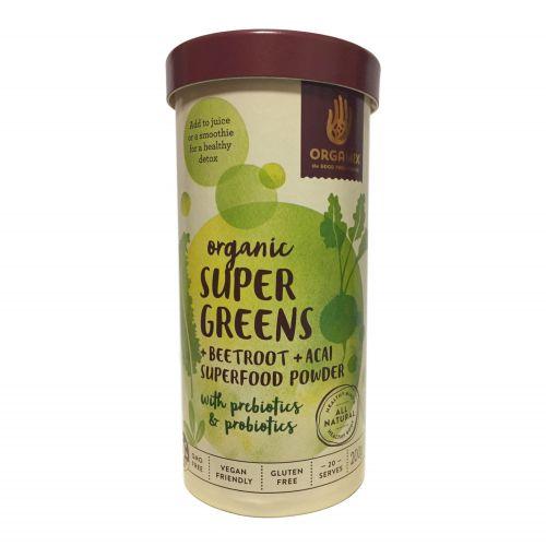Organic Super Greens + Beetroot+ Acai Powder  - 200g