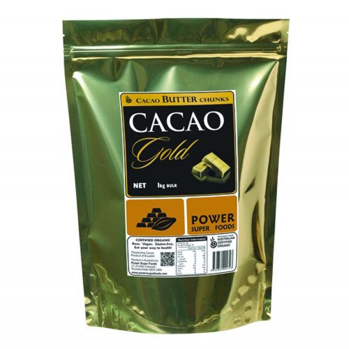 Organic  Raw Cacao GOLD Butter Chunks - 1kg