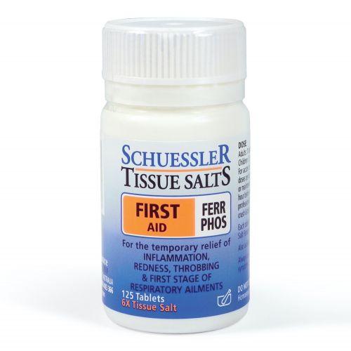 Tissue Salts Ferr Phos First Aid - 125 Tabs