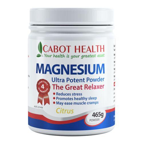 Magnesium Ultra Potent Powder Citrus - 465g