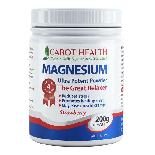 Magnesium Ultra Potent Powder Strawberry - 200g