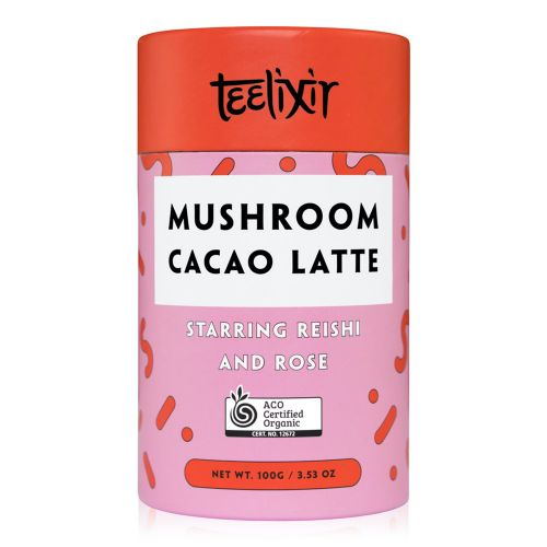 Mushroom Cacao Latte with Reishi Dual Extract Powder & Rose - 100g