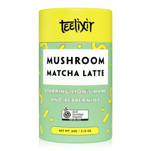 Mushroom Matcha Latte with Lion's Mane Extract Powder & Peppermint - 60g