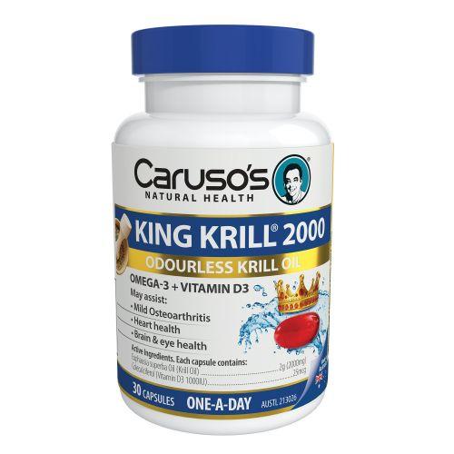 King Krill 2000mg + Vitamin D 30 Capsules