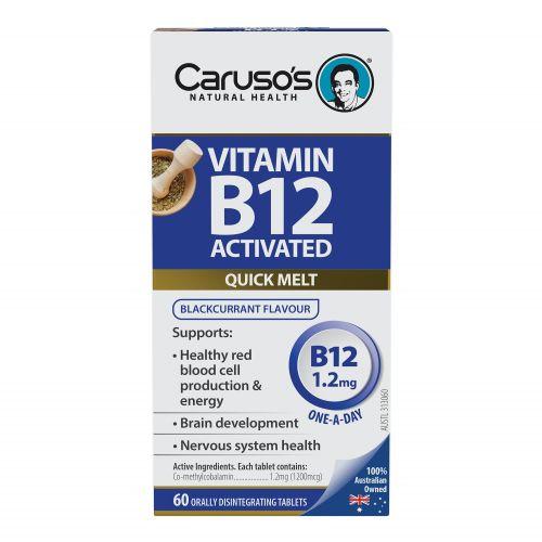 Vitamin B12 Activated Melts 1.2mg - 60T