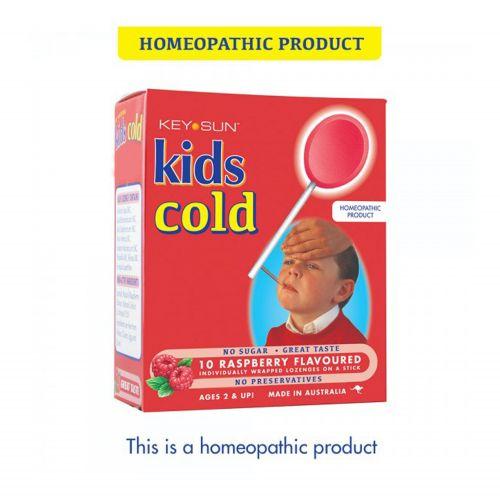 Kids Cold Raspberry Lozenge Pop - 10s