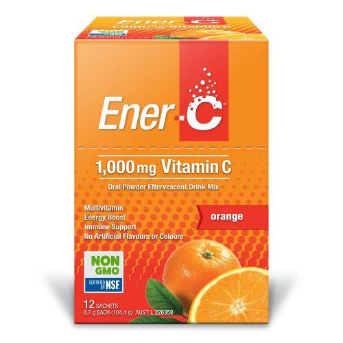 Orange Effervescent Multivitamin Drink - 12 Sachets